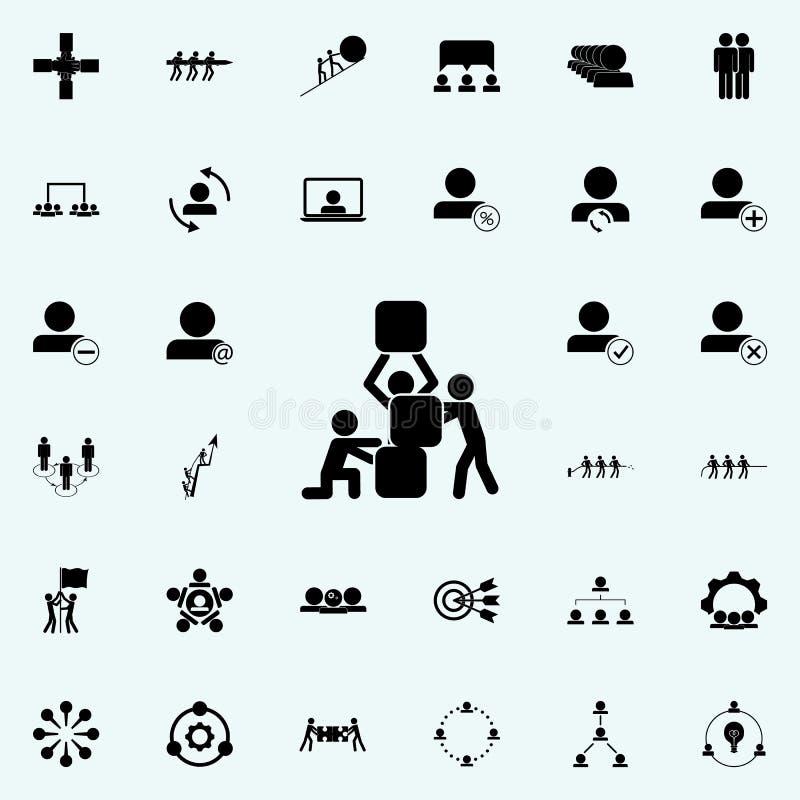 teamwork icon. Teamwork icons universal set for web and mobile vector illustration