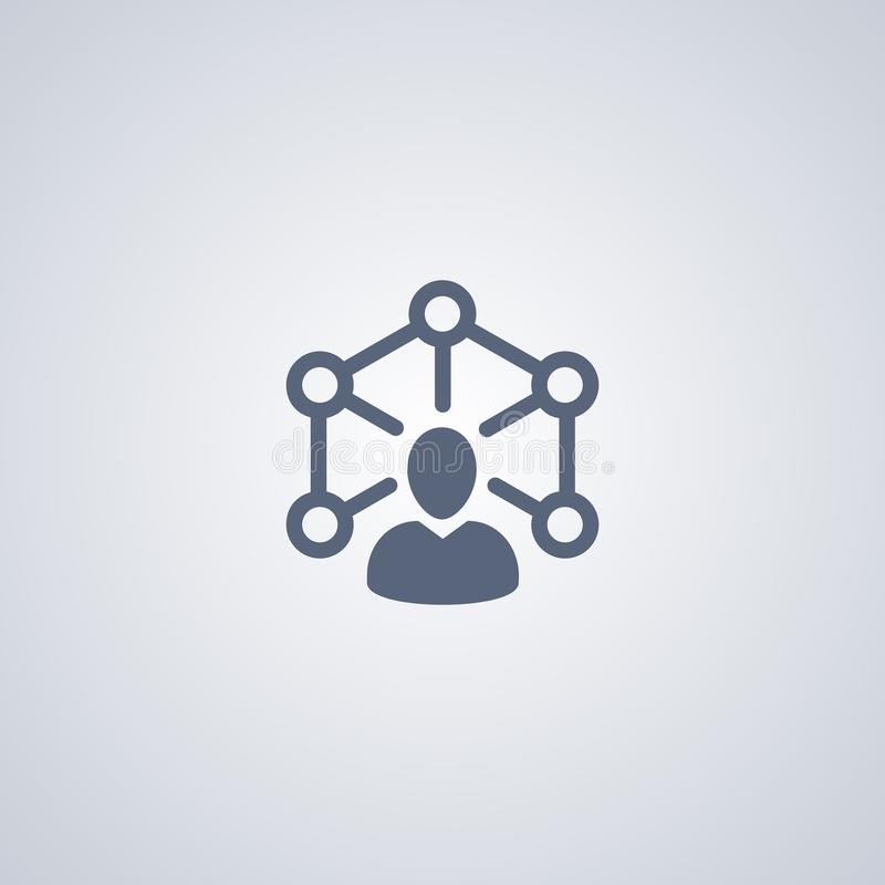 Teamwork icon, networking people icon royalty free illustration