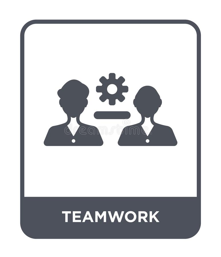 teamwork icon in trendy design style. teamwork icon isolated on white background. teamwork vector icon simple and modern flat stock illustration