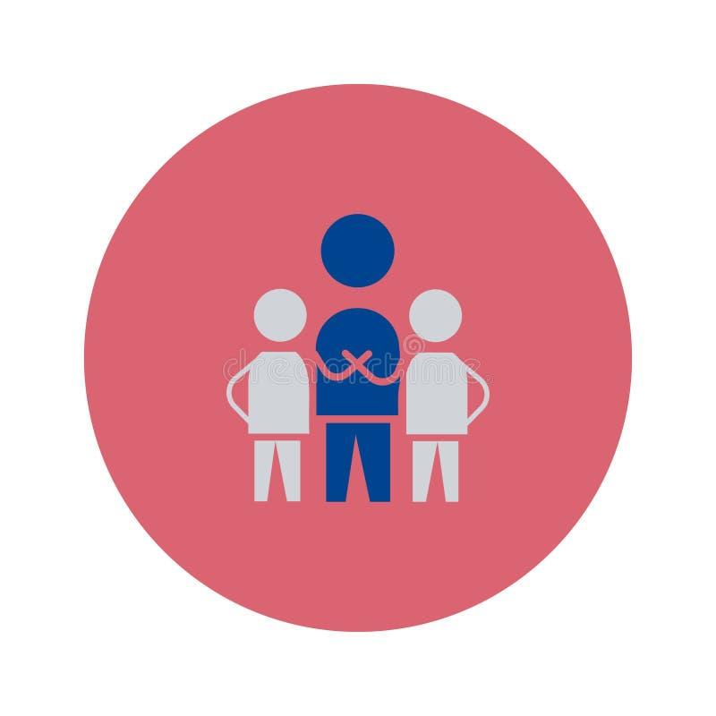Teamwork-Ikone Vektorzeichen-Symbolillustration stock abbildung
