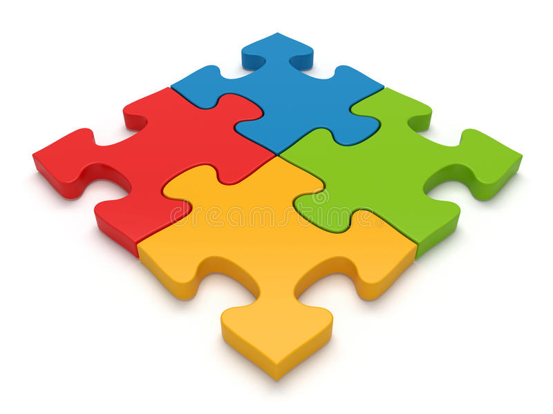 Download Teamwork Jigsaw Puzzle Concept Stock Illustration - Illustration of colors, cooperation: 21559823