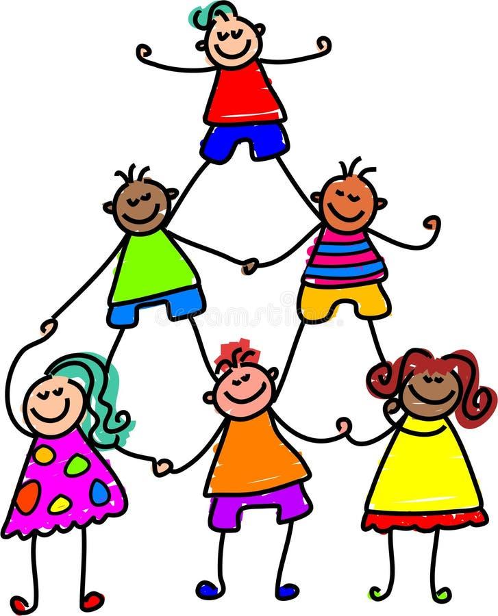 Teamwork-Kinder vektor abbildung