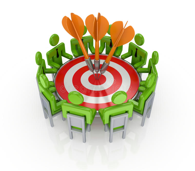 Teamwork-Konzept. vektor abbildung