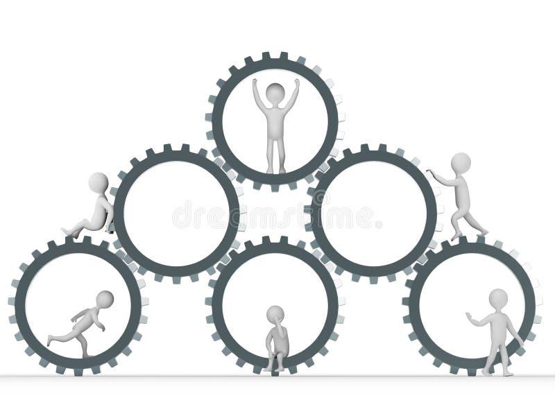 Teamwork-Konzept lizenzfreie abbildung