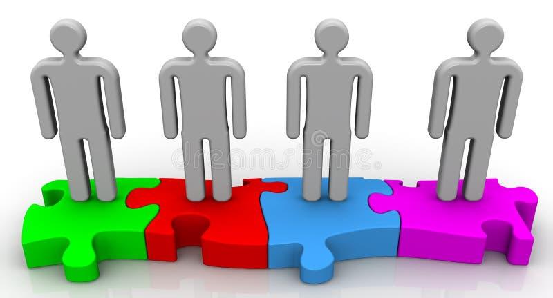 teamwork Konzept lizenzfreie abbildung