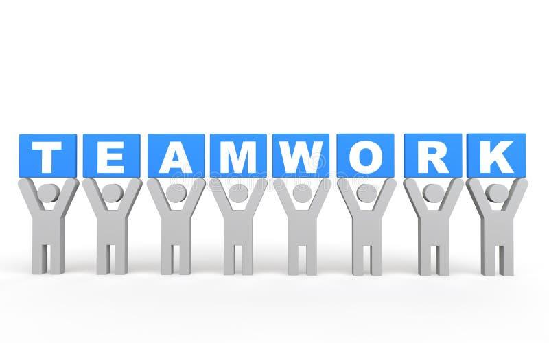 Teamwork-Konzept der Männer 3d vektor abbildung