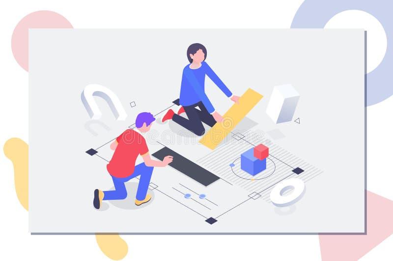 Teamwork-Konzeptfahne Kann für Netzfahne, infographics, Heldbilder verwenden lizenzfreie abbildung
