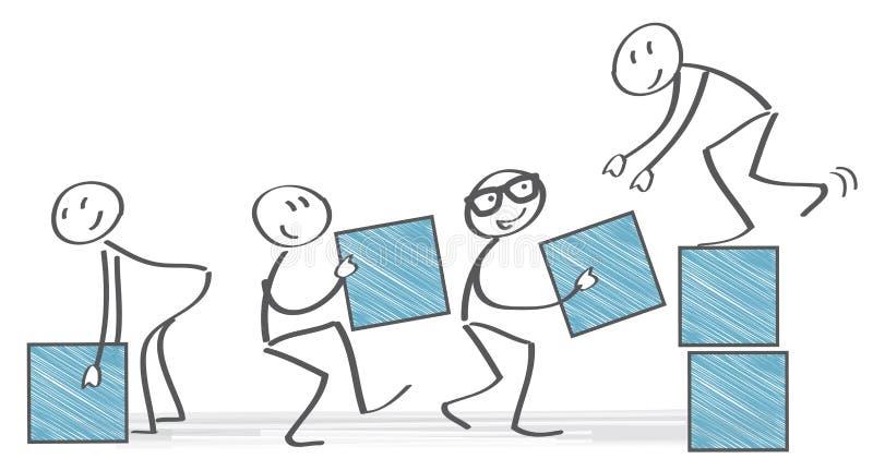 Teamwork-Konzeptillustration mit Stockzahlen stock abbildung
