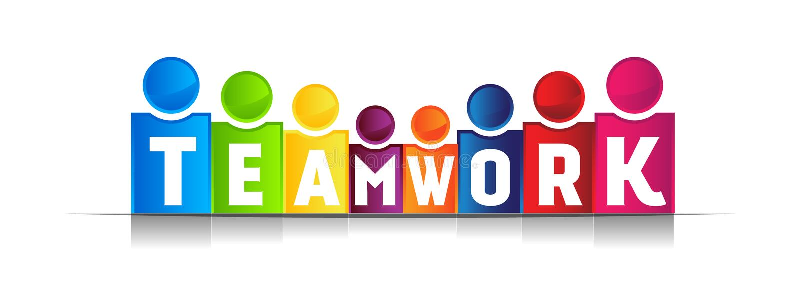 Teamwork-Konzeptwort lizenzfreie abbildung