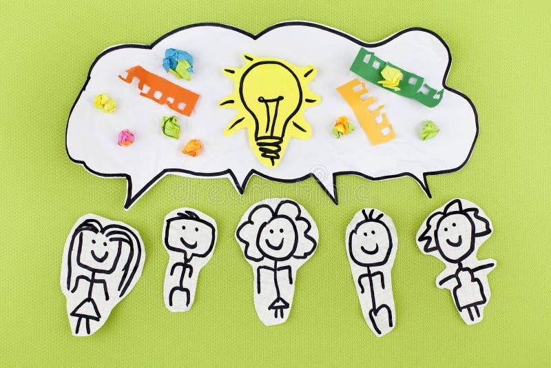 Teamwork-Kreativitäts-Synergieideen Konzept stockfoto