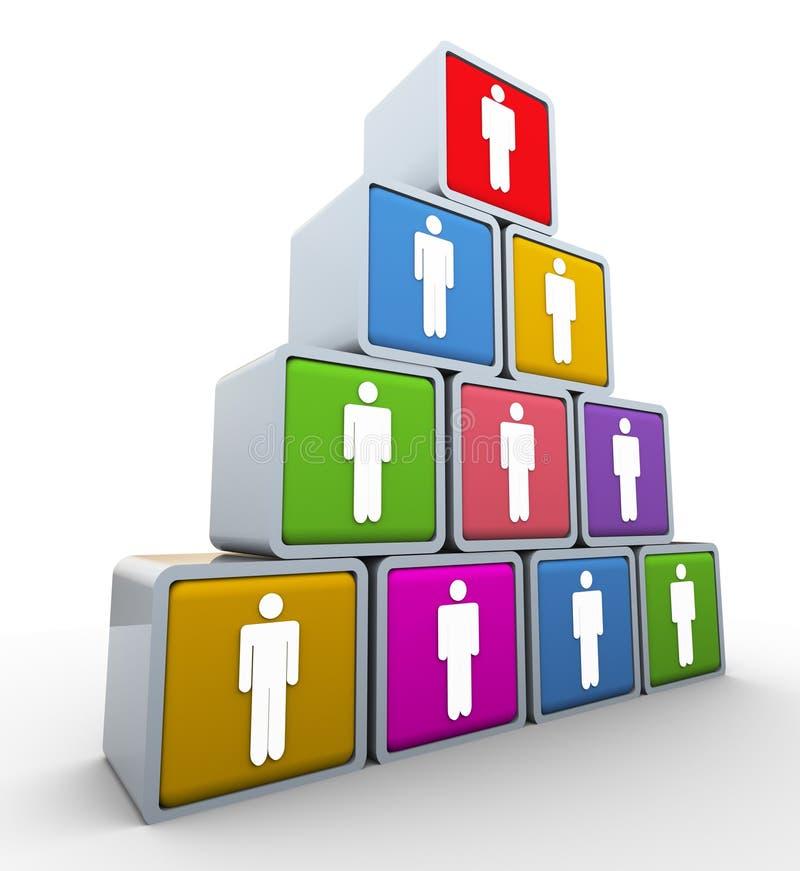 Teamwork and leadership royalty free illustration