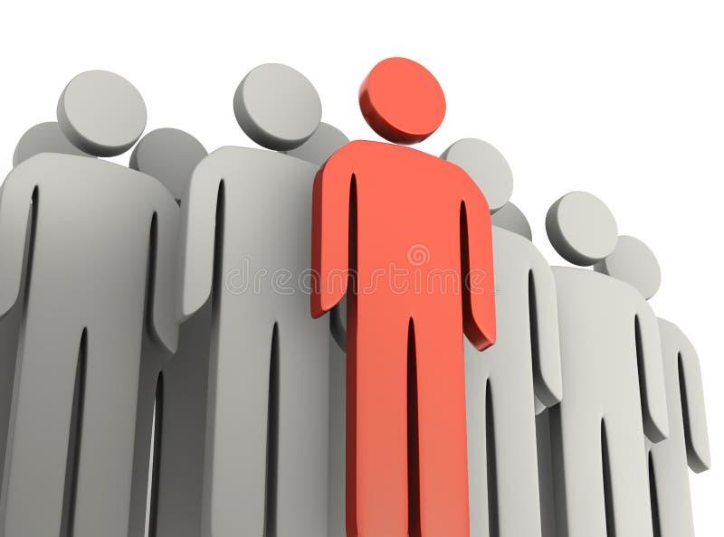 Teamwork and leadership concepts stock photo
