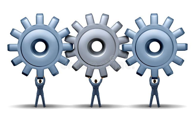Teamwork-Leistung vektor abbildung