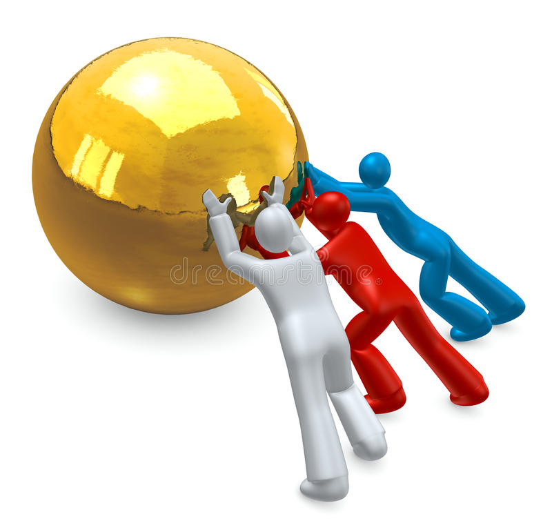 Teamwork-Leute lizenzfreie abbildung