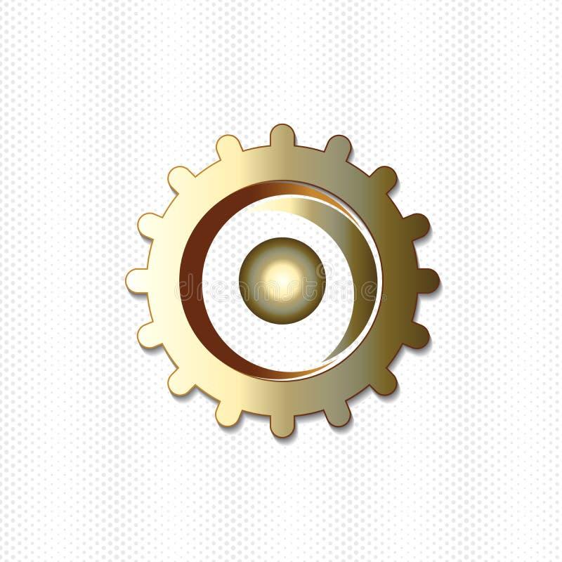 Teamwork-Leutegoldgangikonenlogo-Vektorbild vektor abbildung