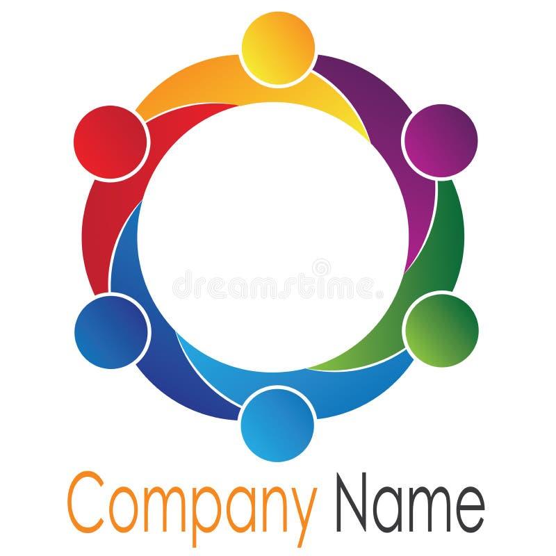 Teamwork logo royalty free stock photos