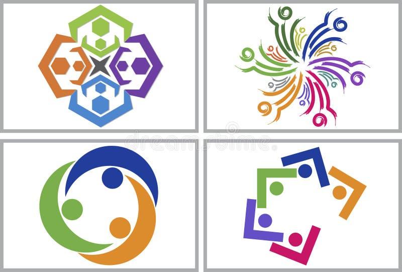 Teamwork logo collection stock illustration