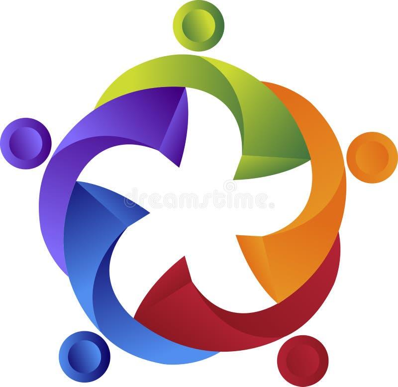 Teamwork logo vector illustration