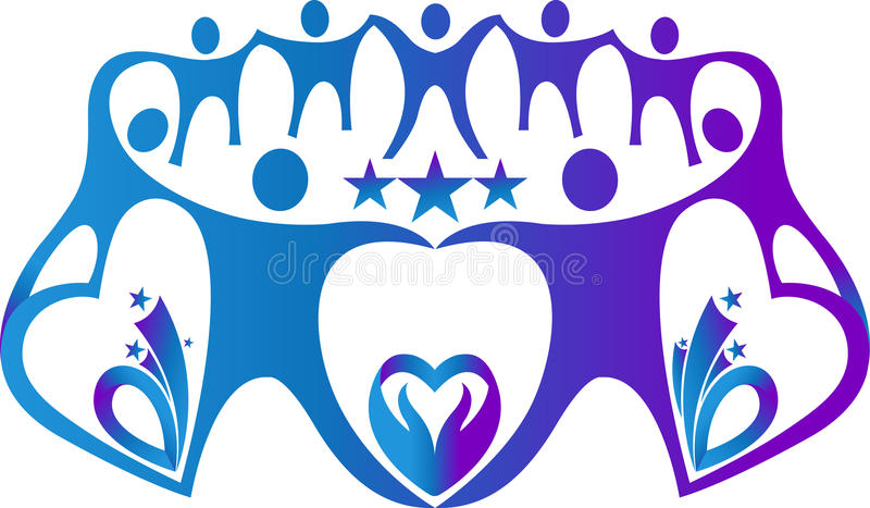 Teamwork logo stock illustration