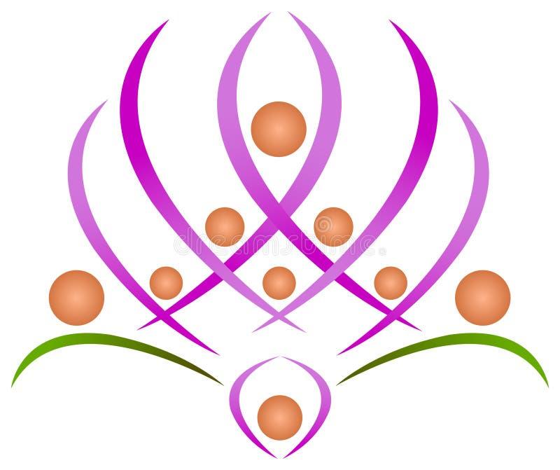 Teamwork lotus vector illustration
