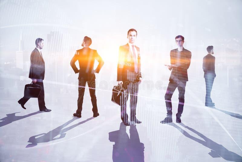 Teamwork-, möte- och handelbegrepp royaltyfri fotografi