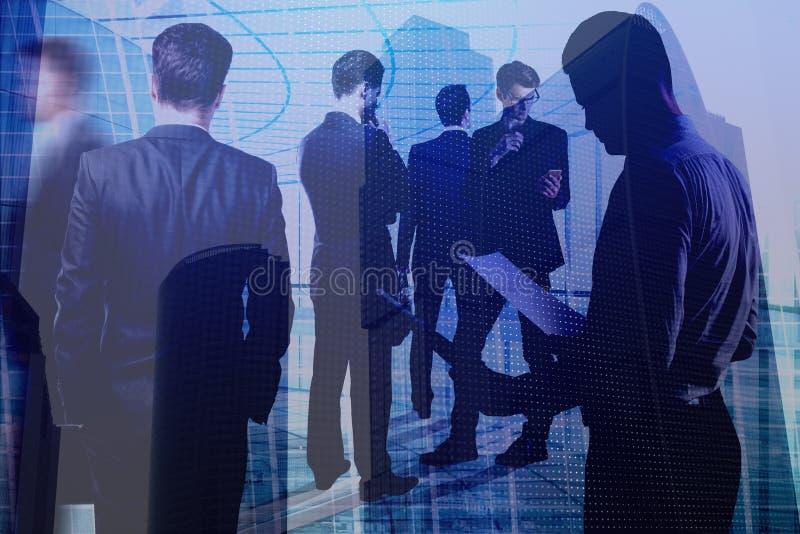 Teamwork-, möte- och nätverksbegrepp royaltyfria foton