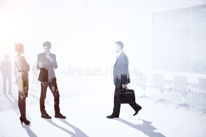 Teamwork-, möte- och tillväxtbegrepp royaltyfri fotografi