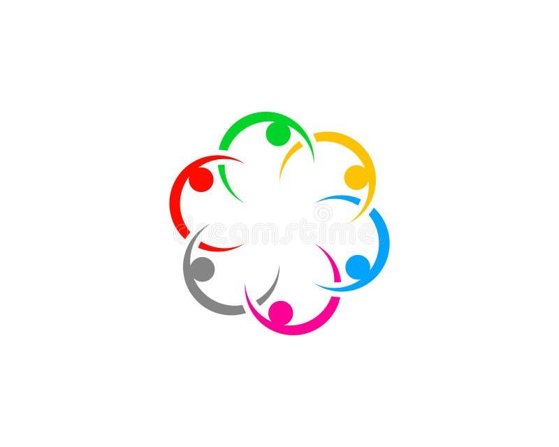 Teamwork-Management-Leute-Gruppen-Logo stock abbildung