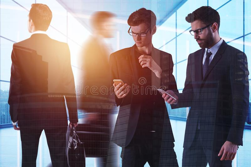 Teamwork, meeting and discussion concept royalty free illustration