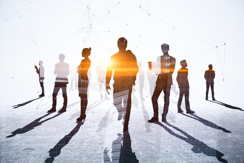 Teamwork, meeting and network concept royalty free stock images