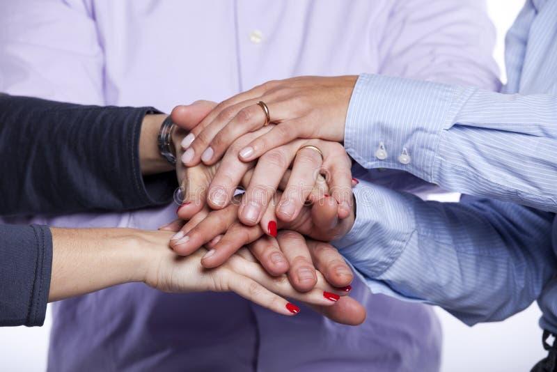 Teamwork-Mitarbeit stockbild