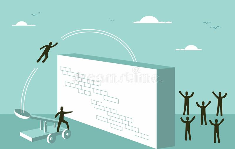Teamwork motivation Business strategy for success concept stock illustration