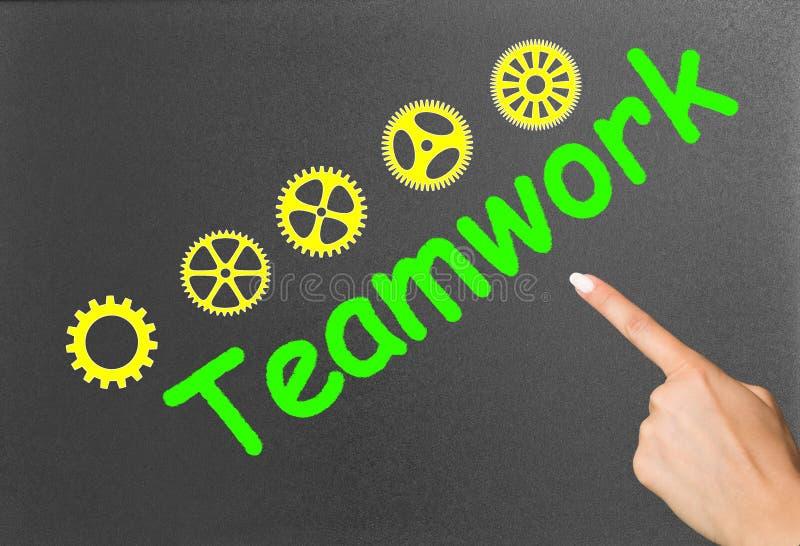 Teamwork och finger royaltyfria foton