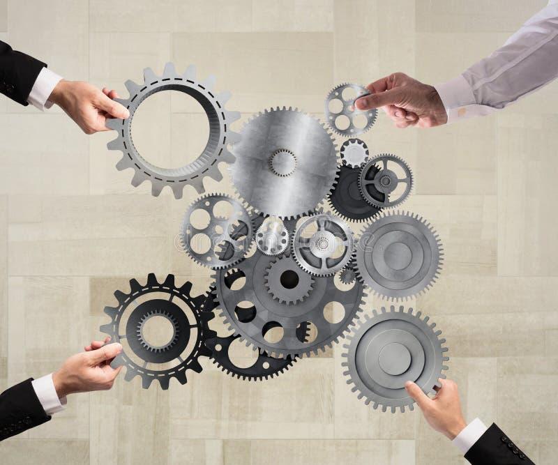 Teamwork- och integrationsbegrepp arkivfoton