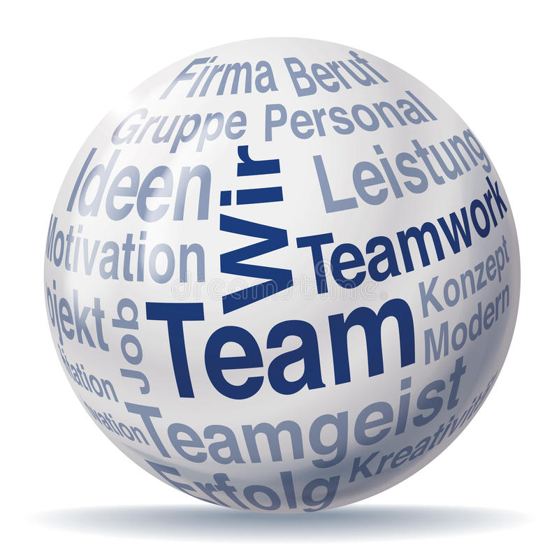 Teamwork- och lagsfär stock illustrationer