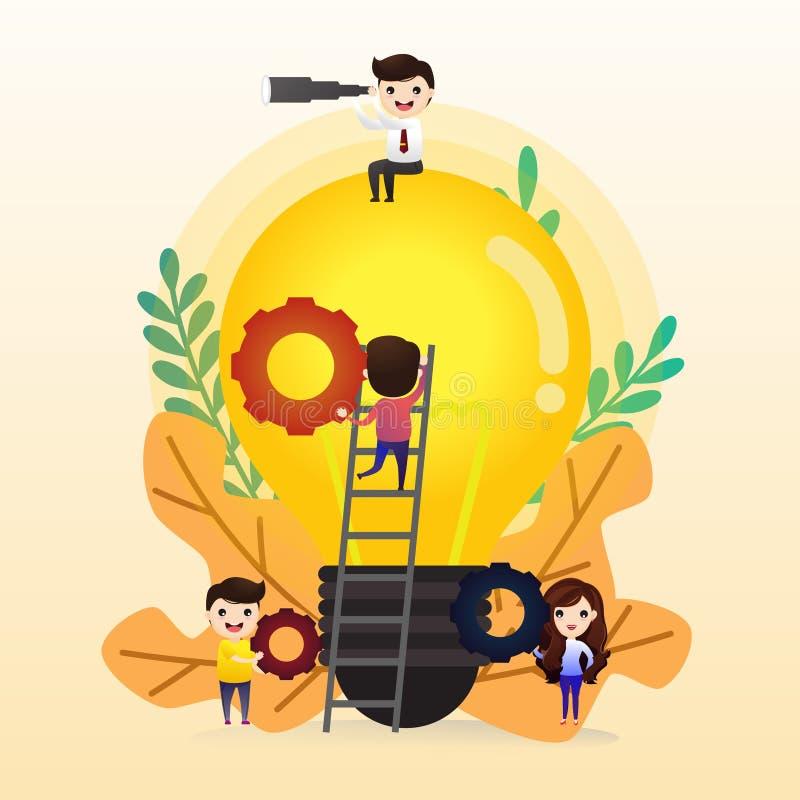 Teamwork royaltyfri illustrationer