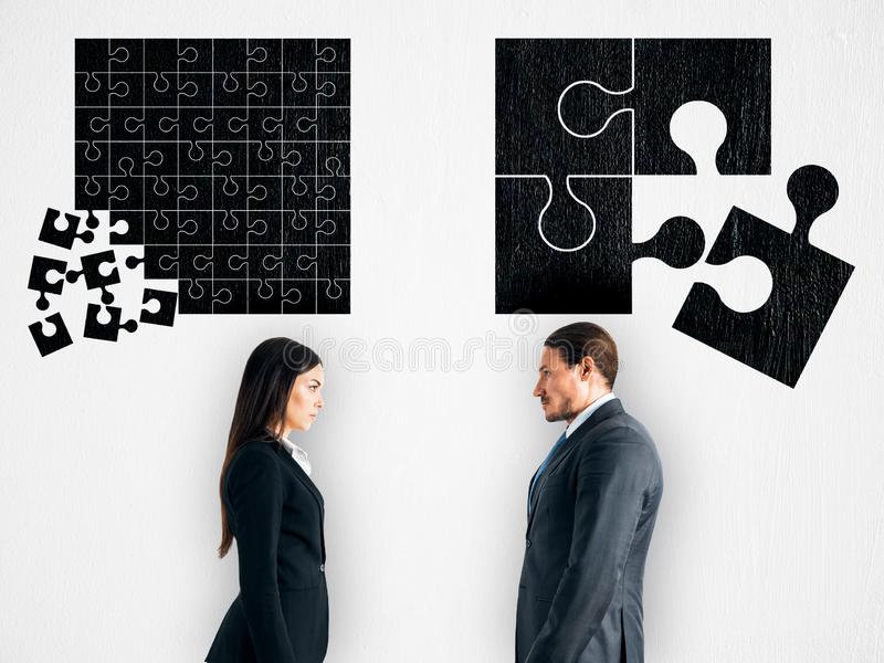 Teamwork and partnership concept royalty free stock photos
