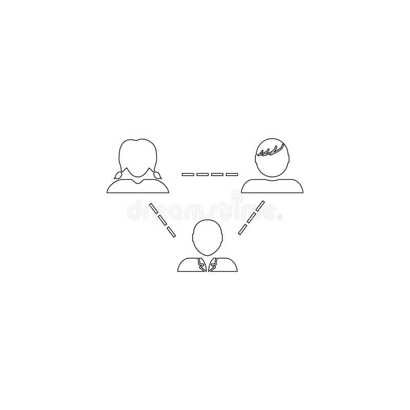 Teamwork Plan vektorsymbol stock illustrationer