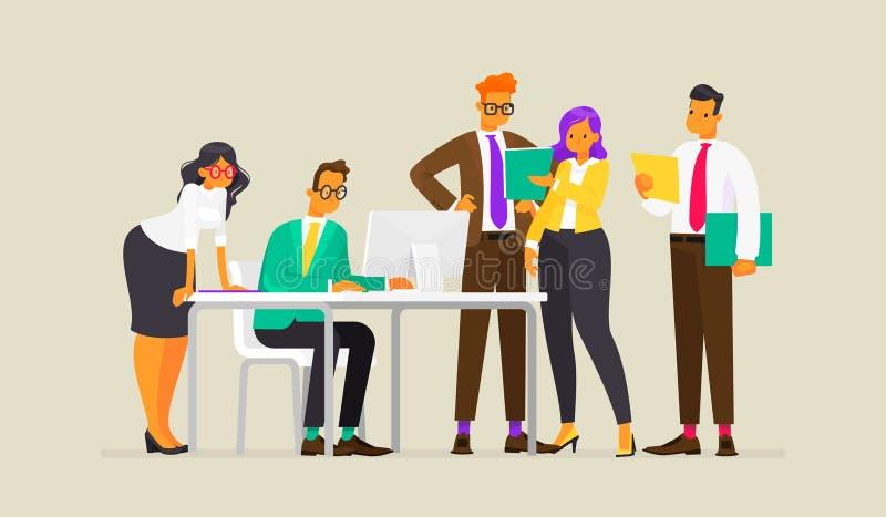 teamwork Processo de trabalho dos executivos Ilustração do vetor ilustração do vetor