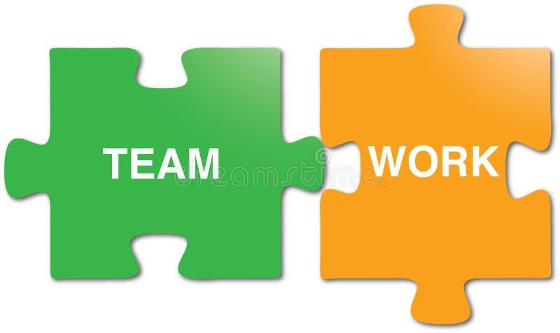 Teamwork puzzle pieces stock images
