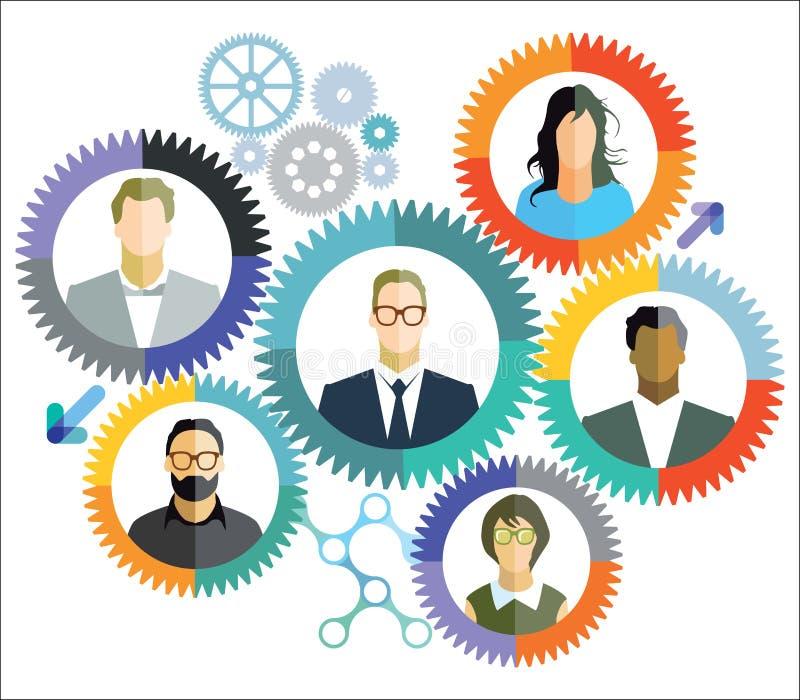 Teamwork samarbete, anslutningar