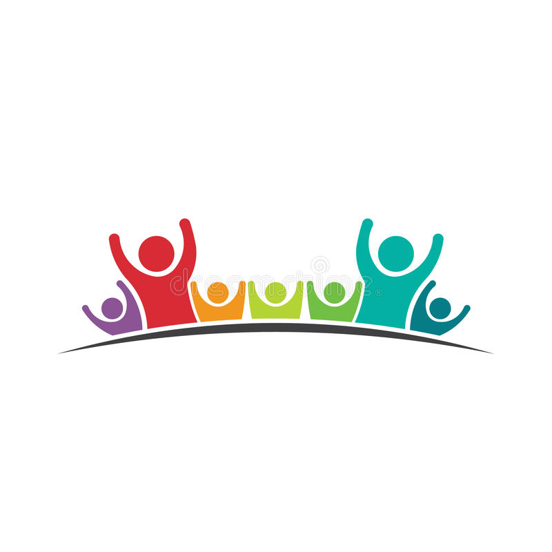 People logo. Family 7 stock image