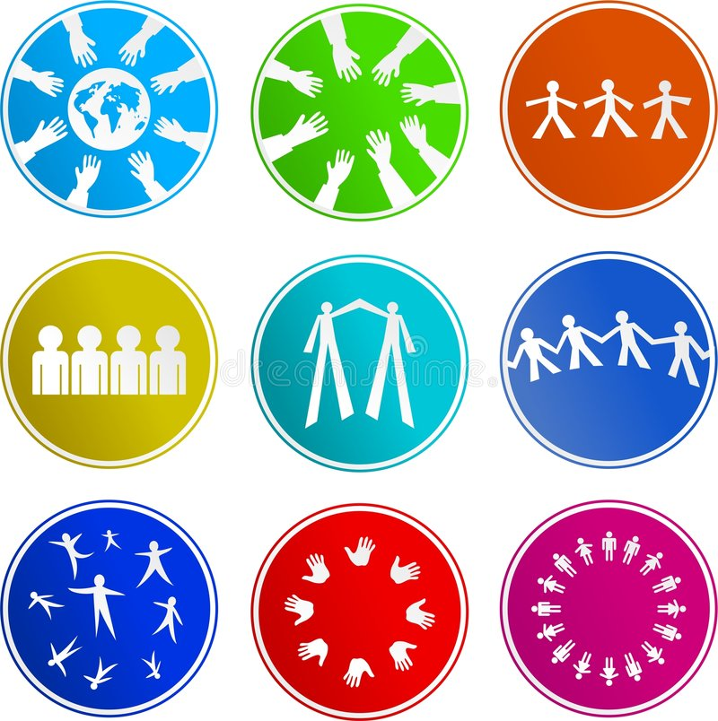 Teamwork sign icons vector illustration