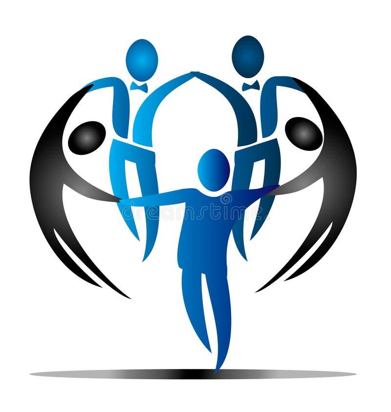 Teamwork Socialleute stock abbildung