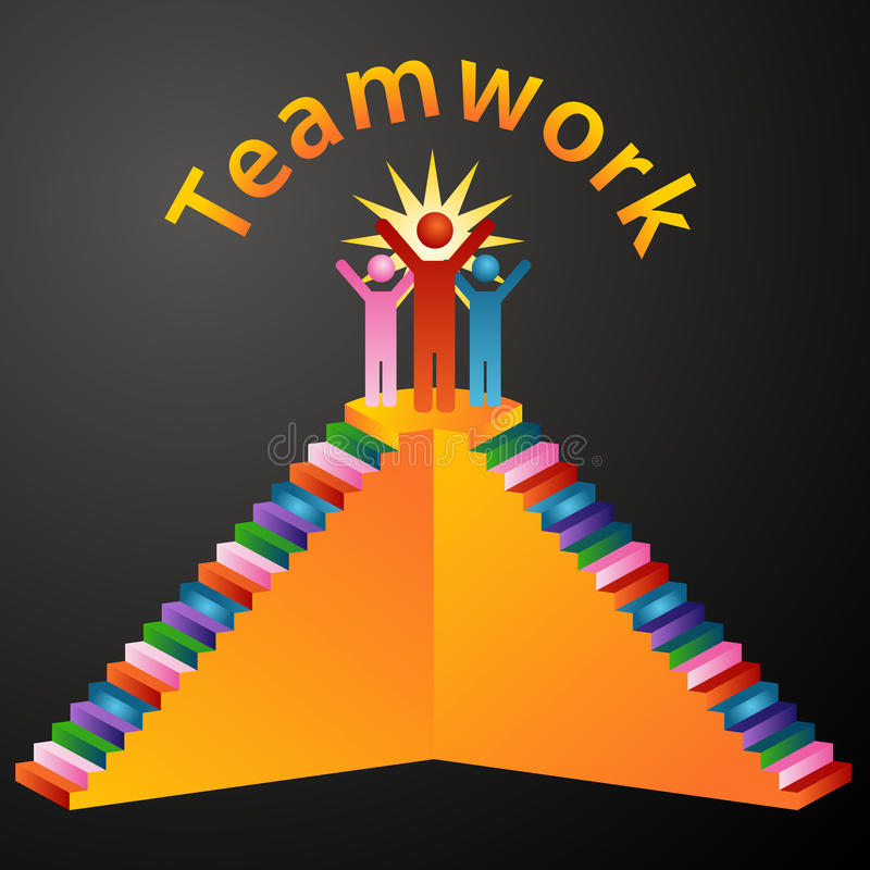 Teamwork Stairs vector illustration