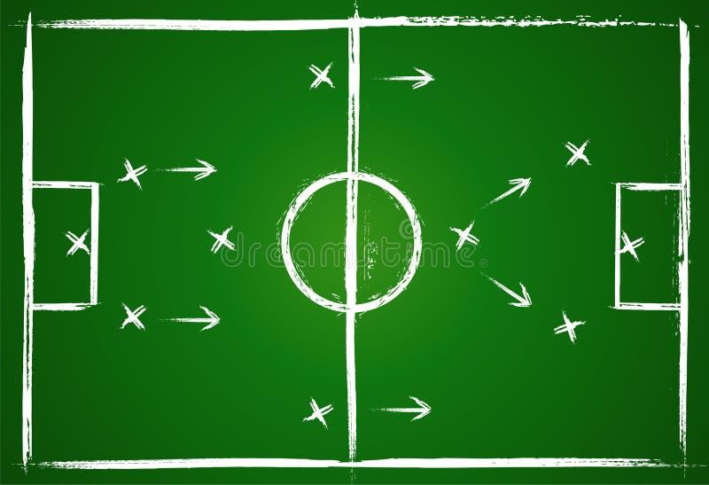 Teamwork strategy. Illustration football game. Teamwork strategy. Vector background