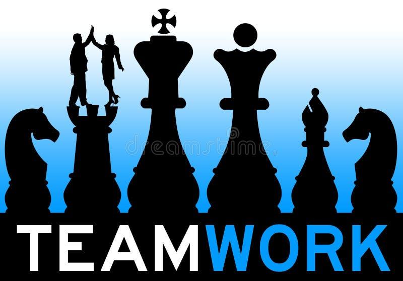 Teamwork strategy royalty free illustration