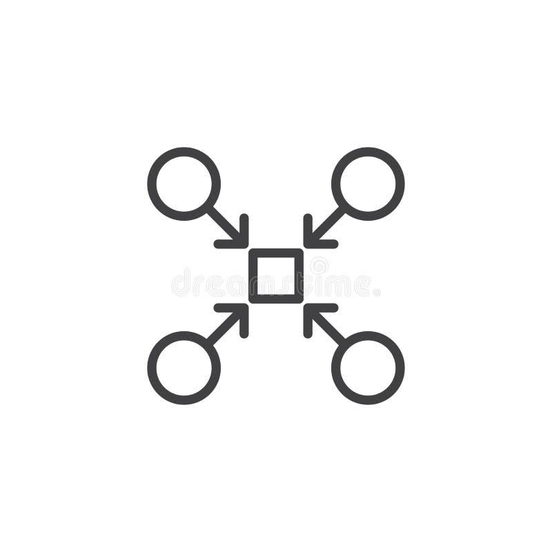 Teamwork-Strukturentwurfsikone vektor abbildung