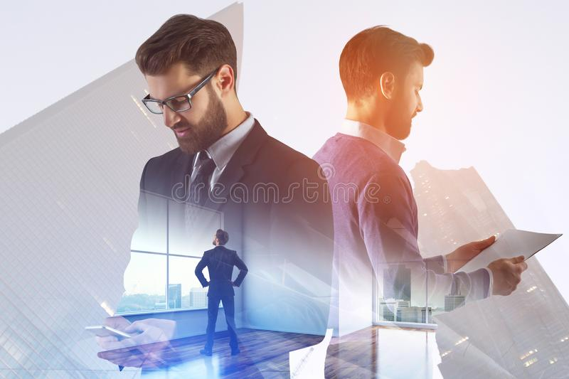 Teamwork and success concept stock photography