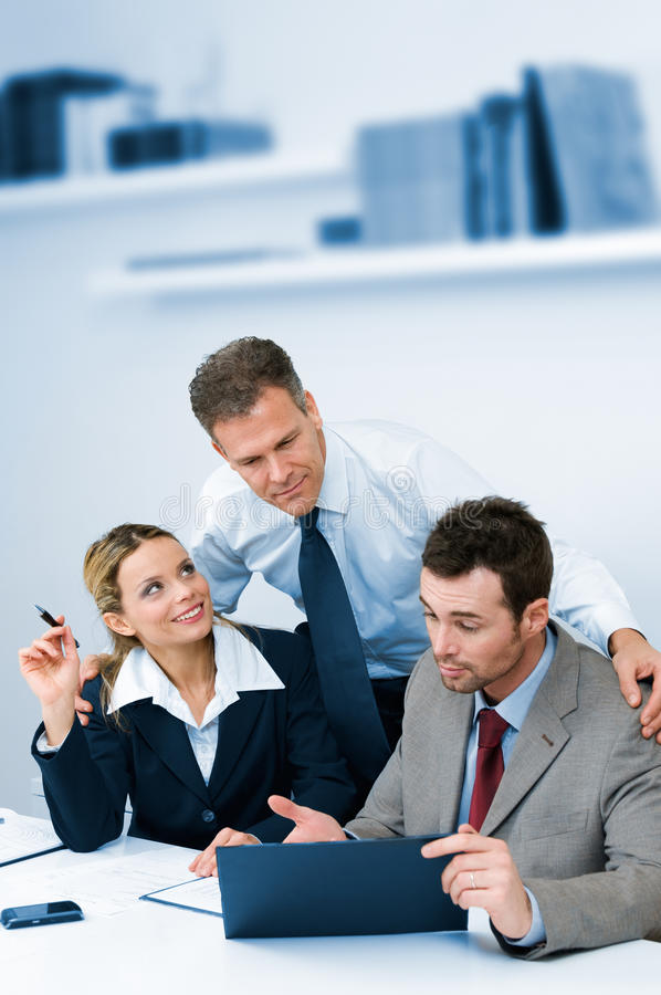 Teamwork supervising and cooperation royalty free stock photography